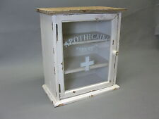 Vintage  Hausapotheke Apotheke Wandschrank   36 cm x 32 cm x 18 cm Giftschrank