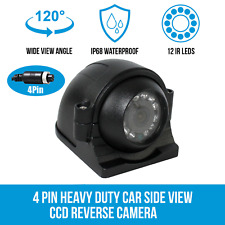 CCD Bus Truck Car Side View Camera 4 Pin 18 LED Waterpoof Night Vision Cam