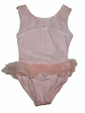 Girl Freestyle by Danskin  Pink Bling Skirted Dance Leotard Size XS 4/5