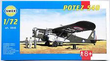 SMER Potez 540, französisches Mehrzweck-Kampfflugzeug, Bausatz, 0540, 0846, 1:72