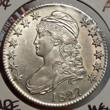 1827 Bust Half Dollar, Choice Almost Uncirculated, Bright and Lustrous  1208-72