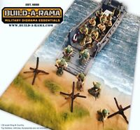 """BuildARama 1:30 Diorama D-Day Mat for King Country K&C LCVP First legion  12x24"""""""