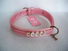 "COLLARE CANE PLAY WITH ME PINK ECOLEATHER ""FOR PETS ONLY"" COCCA MISURA 55"