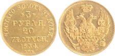 Russland/Polen 3 Rubel/20 Zlotych 1834 Gold  vorzüglich