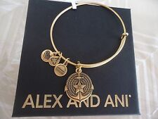 ALEX and ANI ANCHOR II Rafaelian Gold Finish Charm Bangle New W/ Tag Card & Box