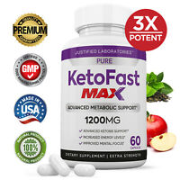Pure Keto Fast Max 1200MG Ketogenic BHB Supplement Weight Loss Diet Pills