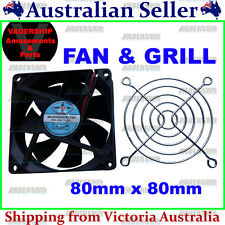 New: 12v COOLING FAN & Grill cover (80mm x 80mm) for Arcade / Mame or Projects