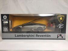 Braha Radio Control Lamborghini Reventon RC 1:24 Scale Remote Gray Silver Car