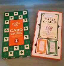 The Penguin Box Of Card Games-The Penguin Book + 2 Packs Of Playing Cards-GC