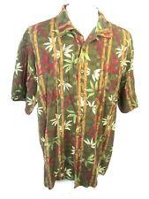 CARIBBEAN JOE Men Hawaiian ALOHA shirt pit to pit 25 sz XL floral camp luau tiki