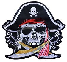 Badge patch dorsal dos big size PIRATE patch grand embroidered