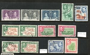 Fiji George VI Used Collection to 5/- Incl SG 254