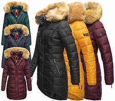 Navahoo Damen Jacke Winter Mantel Stepp Winterjacke warm lang Steppjacke Papaya