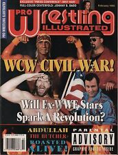 Pro Wrestling Illustrated February 1995 Bret Hart, Hulk Hogan VG 020316DBE