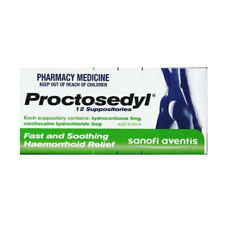 * PROCTOSEDYL 12 SUPPOSITORIES FAST AND SOOTHING HAEMORRHOID RELIEF