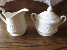 Vintage  Wedgwood  Partrician Creamer and Covered Sugar Bowl