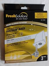 Fresh Solutions Eureka Style C  *2 PACK* (6 BAGS TOTAL) VACUUM BAGS 70280