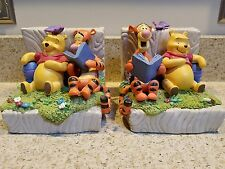 Disney Vintage Winnie the Pooh w/ Tigger Bookends Rare