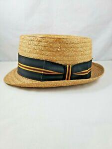 "Vintage Cavanagh Straw Hat ""Grabber""  Size 7 1/8"