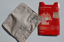 SAFETY, BUTTON ON, SHIRT SECURITY WALLET, Hold Cash,Valueables,Cards,Travel,