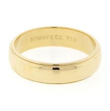 Tiffany & Co. Milgrain Band 6mm 18KT Yellow Gold RETIRED