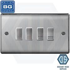 BG Brushed Steel Custom Grid Switch Panel Labelled Kitchen Appliance 4 Gang