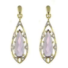 Pendientes de joyería con gemas mariposas morado diamante