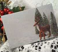50 CHRISTMAS CARDS TAGS GIFT TREE REINDEER GREEN SNOW WHITE PLACE name Thank You