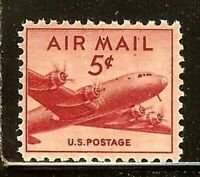 Air Mail - 5c - Scott#: C33 - DC-4 Skymaster Single Stamp MNH OG
