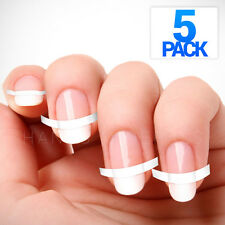 5x Pack (240pc) French Manicure Nail Guide Sticker Art Tips Form Stencil DIY USA