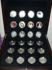 2003 Lord of The Rings 24 Silver Proof Coins Set!!! Scarce