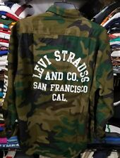 Levis Strauss Camo Long Sleeve Button Down Shirt Camouflage men Large California