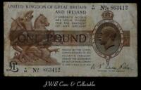 Warren Fisher £1 One Pound Treasury Note N/99 863412 Great Britain And Ireland