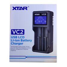 XTAR VC2 USB Li-Ion LCD 18350 CR123A 18650 26650 Vape Battery Charger