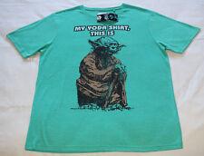 Star Wars Mens Yoda Green Printed Short Sleeve T Shirt Size M New