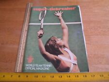 Chris Evert 1976 World Team Tennis program magazine signed by Jimmy Connors