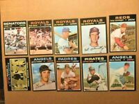 1971-TOPPS, 10 BASEBALL CARDS HI-END-EXNM-FREE SHIPPING