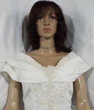 EUC Beautiful! WHITE  Wedding Gown/Dress SIZE ??, Lace/bead/sequin decor