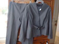 2 Piece Women's Grey Pants Suit Size 12 by Designer Isabella
