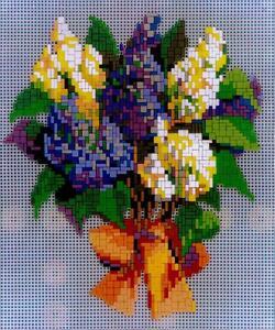 Mini Stecksystem Blumenstrauß Motiv 4 ca. 1.900 Teile mit XXL-Steckvorlage