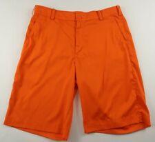 Nike Golf Tour Performance Mens Stretch Polyester Dri Fit Orange Shorts Size 32