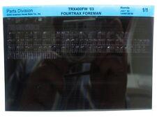 Honda TRX400FW TRX400 FourTrax Foreman 2003 Parts List Catalog Microfiche a118