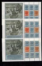 UWB19 3x PANES SG X886bl ex DX5 HERITAGE PRESTIGE BOOKLET Machin stamp x886b 10p
