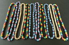 10 x NECKLACE NEW MIXED BEAD SHINEY NECKLACES FESTIVAL WHOLESALE GIFTS GIRLS