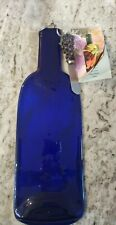 Wild Eye Design Glass Bottle Platter with Grape Handle Cheese Knife/Spreader new