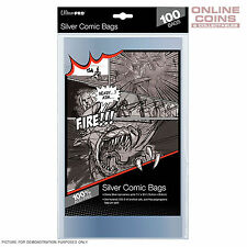 Ultra Pro Comic Series Acid Free Ultra Clear Silver Size Comic Bags x 100