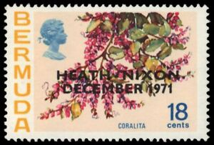 "BERMUDA 290 (SG285) - Heath-Nixon Summit ""Coralita Flowers"" (pa16012)"