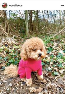 "BRAND NEW WITH TAG Equafleece 16"" Slim Dog Suit Fuschia Pink"