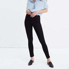 Madewell Womens Jeans Size 25 Black Skinny High Rise Stretchy New