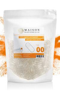 Leerkapseln von Maison Naturelle® VEGAN 1000 Stk. | Gr 00 | vegan HPMC